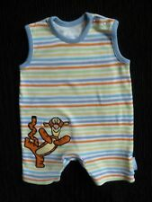 Baby clothes BOY 0-3m Disney@George Tigger striped romper no sleeves SEE SHOP!
