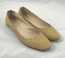 Chloe Leather Lauren Flats in Natural Size 38