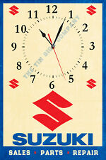 SUZUKI SALES, SERVICE WALL CLOCK. MAKES A GREAT GIFT FOR ANY MECHANIC, GARAGE ET