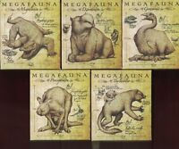 2014 Australian Megafauna 1oz Silver Proof Coins, COMPLETE SET OF FIVE!!!!