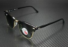 RAY BAN RB3016 901 58 Clubmaster Black Crystal Green Polarized 51 mm Sunglasses