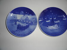 B&G Christmas Plates Lot Blue & White Denmark Porcelain 1969 1966