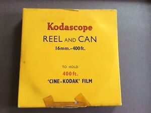 KODASCOPE REEL & CAN 1950's Vintage 16mm 400ft