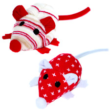 Christmas Catnip Toy Mice Mouse Cat Kitten Toy 2 Pack