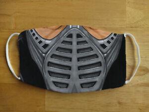 Face Mask Mortal Kombat Subzero Reptile Scorpion Retro Gamer Reusable Face Cover
