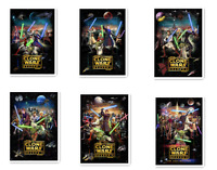 Star Wars The Clone Wars Season 1-6 1 2 3 4 5 6 DVD Complete Series Collection