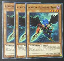 Set 3 Carte  ALANERA ZEPHYROS L' ELITE in Italiano LED3-IT031 Comune YUGIOH