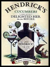 Hendricks Gin, rétro en métal aluminium vintage sign bar pub CLUB MAN CAVE