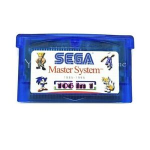 106 In 1 Master System Games Card Cartridge Game Boy Advance GBA SP NDS NDSL