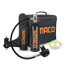 Mini Scuba Diving Case Kit 1L Oxygen Cylinder Tank Equipment Hand Air Pump Bag
