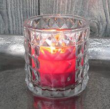 Windlicht aus Glas klar Hochzeit Deko Teelichthalter Diamant Votivglas Tischdeko