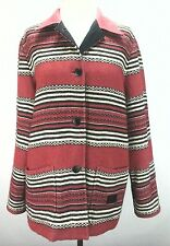 GUC $269 RALPH LAUREN WOMENS jacket Safari Outfitters Red SOUTHWEST Barn Coat M