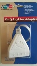 OnQ Anyline Adaptor Model 364260-01 4 Phone Line Splitter,Fx,Moderm,Ph,A/M