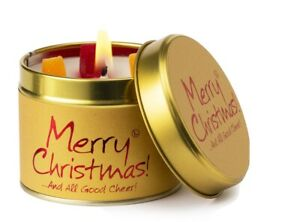 Lily-Flame Merry Christmas Scented Candle Free P&P