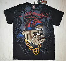 Ed Hardy By Christian Audigier Herren Men T-Shirt Rapper Dog Gr. M