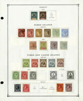 Turks & Caicos Clean Mint & Used 1800s to 1980s Stamp Collection