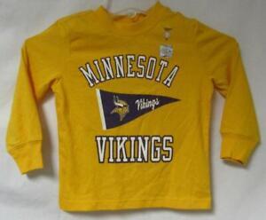 Minnesota Vikings Toddler Size 3T Long Sleeve T-Shirt A1 4434