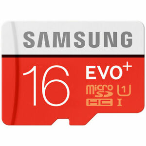 SAMSUNG SD CARD MICRO SD EVO PLUS PRO SDHC MEMORY CARD 16GB 100MBS CLASS 10