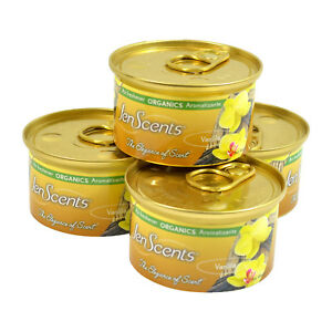 Jen-Scents Air Freshener Can,Organic Car Air Freshener In a Can 4-PACK (Vanilla)