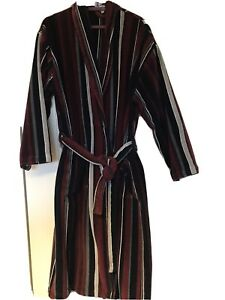 Bown of London Men's Dressing Gown 100% Cotton Velour Great Quality - Size L