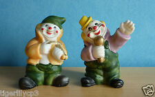 2 Clown beeldjes