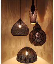 MARRAKESH: Black Shade with Gold Interior Pendant Lights