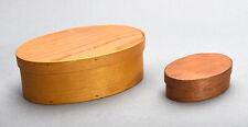 2 Small Shaker Style Handmade Wood Boxes by Charles Harvey Berea Kentucky 1986