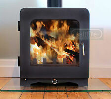 Saltfire ST4 DEFRA Approved Cleanburn Modern Multifuel Woodburner Stove 7.5kW