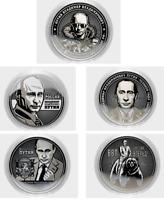 """Coins 25 rubles /""""Putin Vladimir Vladimirovich/"""" engraving,in capsule Russia."""