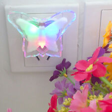 Colorful  Butterfly LED Night Light Lamp Home Room Party Desk Wall Decor Gift