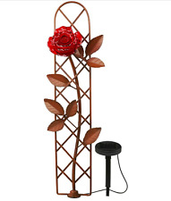 LED Solar Path Rose Trellis Outdoor Light Decor Garden Walkway Landscape Flower