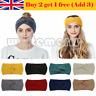 Womens Knitted Cross Knot Headband Head Turban Crochet Winter Band Hair Ear Wrap