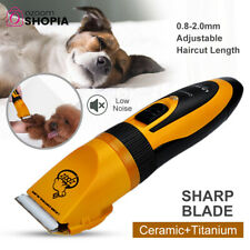 Professional Pet Cat Dog Fur Hair Grooming Clippers Cordless Electric Trimmer