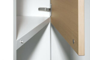 Salice 110° Full Overlay Push to Open Hinges With Clip On Plate & Magnetic Catch