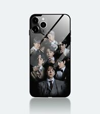 BTS Kpop Bangtan Boys Band Army Fans Tempered Glass Phone Case Cover For iPhone