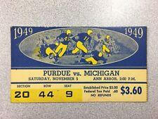 Michigan vs. Purdue 1949 Football Ticket Stub- RARE!