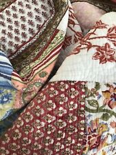 POTTERY BARN~MULTI COLORS~PATCHWORK~FLORAL~PAISLEY~FULL QUEEN QUILT~REVERSEABLE