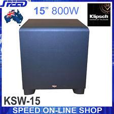 """Klipsch KSW-15 800watt 15"""" Subwoofer - Black - (Refurbished)"""