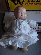 "Vintage 1920s Grace Putnam Composition Cloth Bye Lo Boy Character Doll 13"" T"