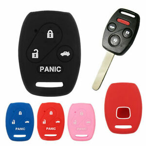 4 Button Keyless Silicone Car Key Fob Cover Case Shell Fits Honda Accord Civic
