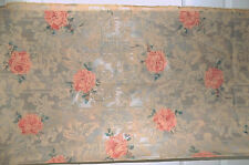"Vintage Pink Rose Brocade Fabric Four Yards 55"" Wide"