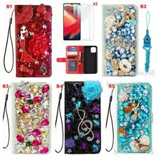 For NOKIA X10/X20 case,3D Bling rhinstones flip Wallet Leather Phone Cover