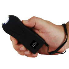 20 Mil Volt Runt Black Flashlight Stun Gun Self Defense Hiking Camping w case