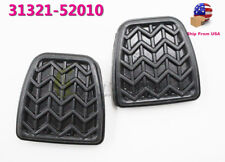 OEM NEW 2 PCS CLUTH OR BRAKE PEDAL PAD BLACK RUBBER FOR TOYOTA SCION 31321-52010