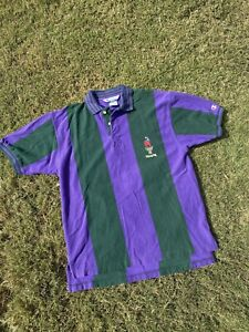 Vintage Champion Stitched 1996 Atlanta Olympics Striped Polo Size Medium