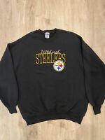 Vintage The Game Pittsburgh Steelers Pullover Sweatshirt NFL VTG90 Black Size XL