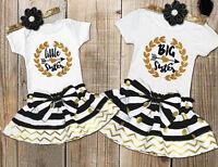 Cute Baby Girl Little Sister Romper Dress Kid Big Sister T Shirt Dresses Outfits