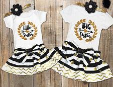 Fashion Kids Baby Girls Sister Match Romper T-shirt Tops Skirt Dress Outfits Set