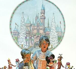 Disneyland Charles Boyer Merry Christmas 1988 Signed Lithograph #238/400