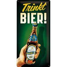 Nostalgic-Art 27008 Open bar - trinkt Bier Blechschild 25x50 Cm